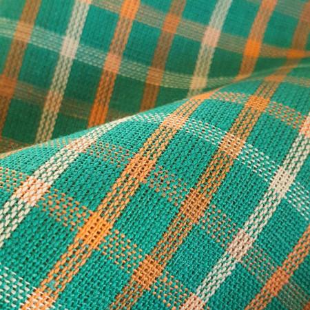 Toile à torchon verte à carreaux en Métis